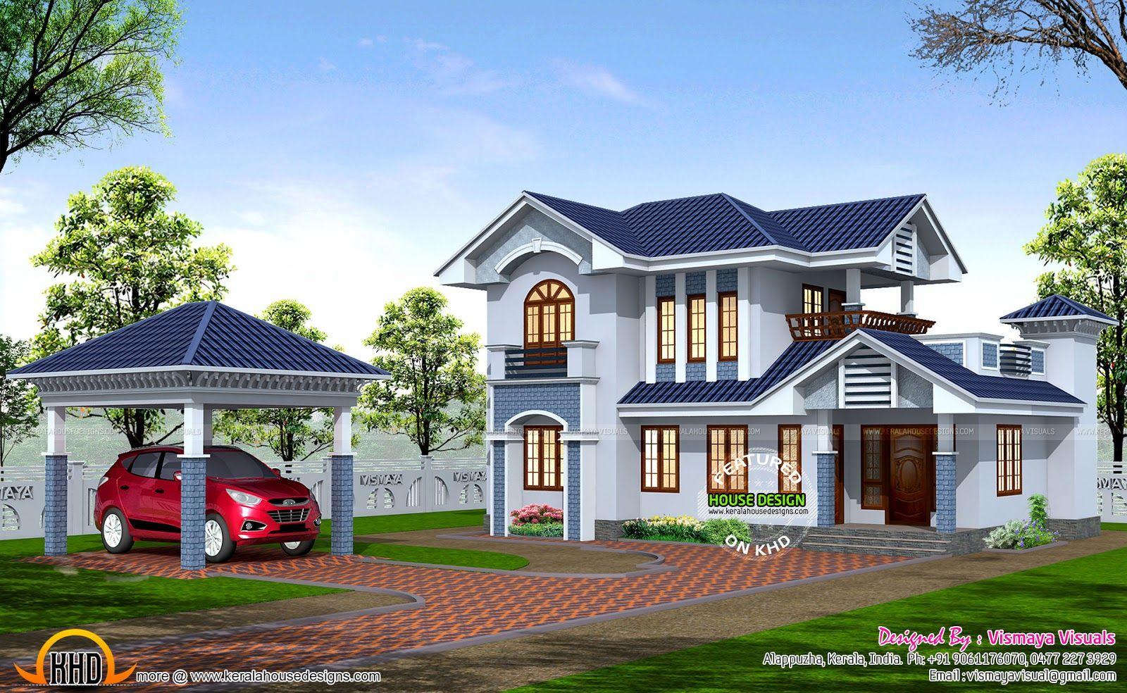 Home design types 2380 sq ft box type house kerala home design and - Pin By Homeinner Home Design House Plans Interior Design On Homeinner Home Design House Plans Interior Design Pinterest Kerala And Villas