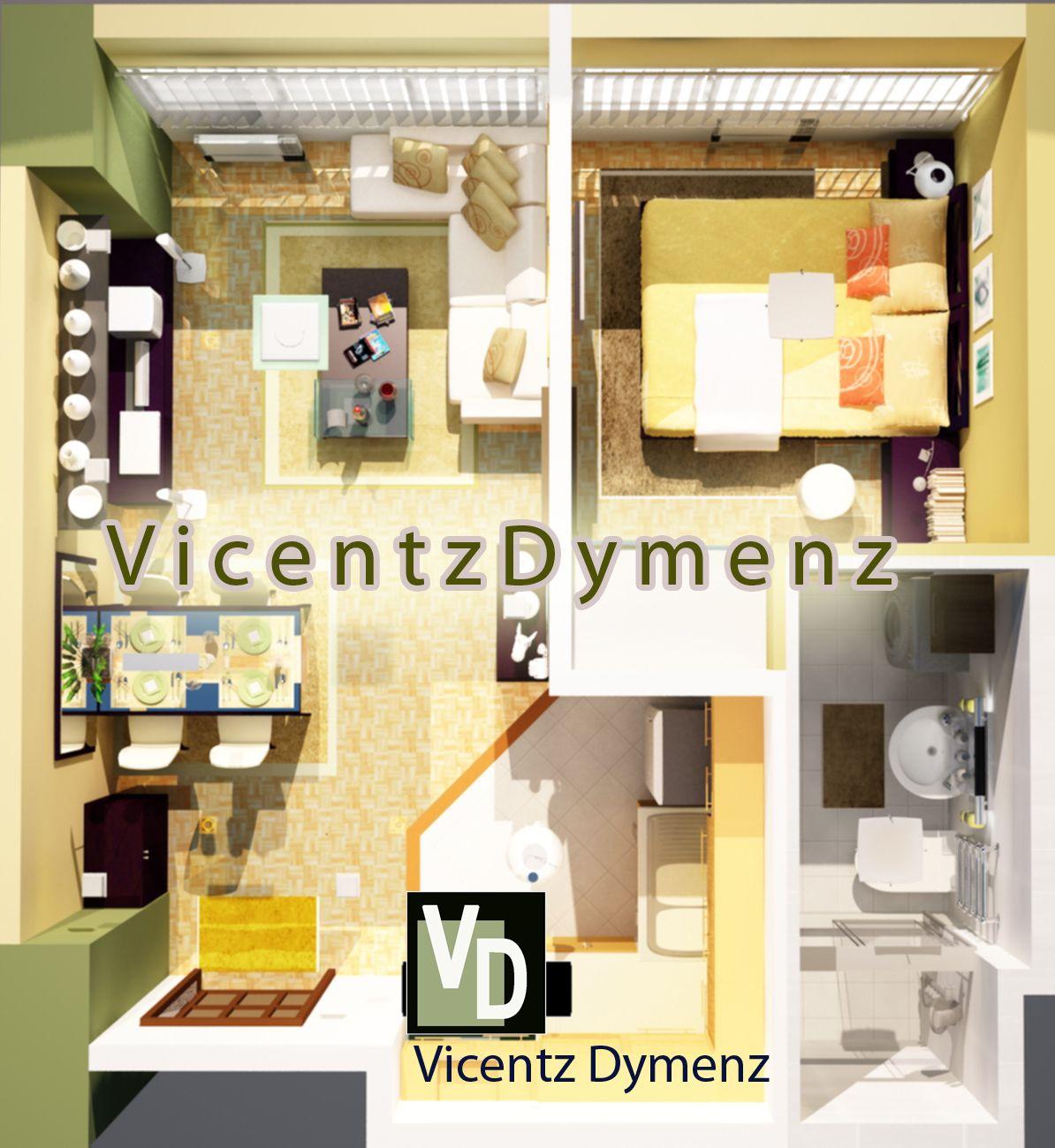 Pin By Mikesumido On 3d Interior Design 1 For A 1 Bedroom Studio Type Condo Unit 3d Interior Design Studio Type Condo Interior Design