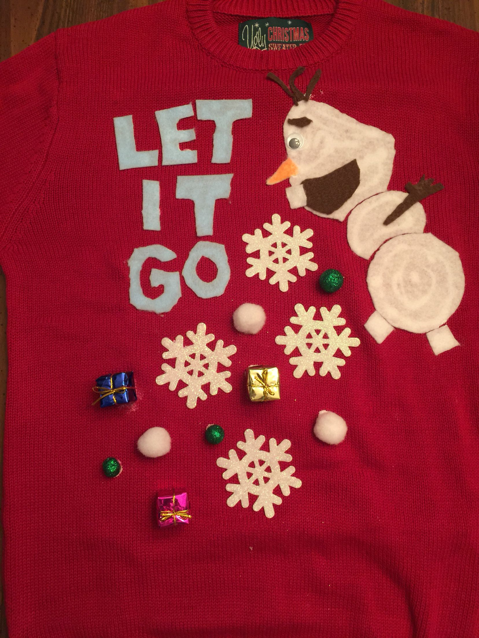 Olaf letting it go. Ugly Christmas Sweater | Ugly Christmas sweater ...