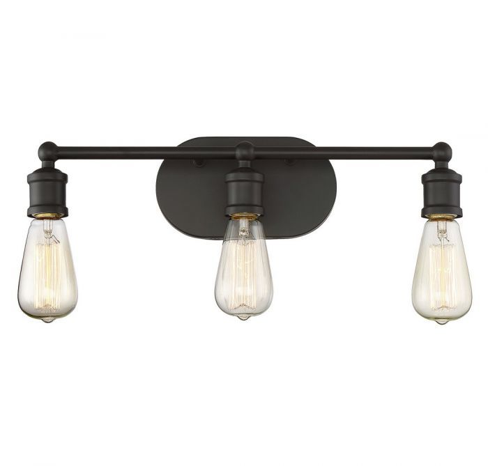 Trade Winds 3Light Vintage Industrial Bath Bar in Oil Rubbed Bronze