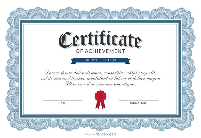 Certificado de plantilla logro | Certificados y Diplomas - vector ...