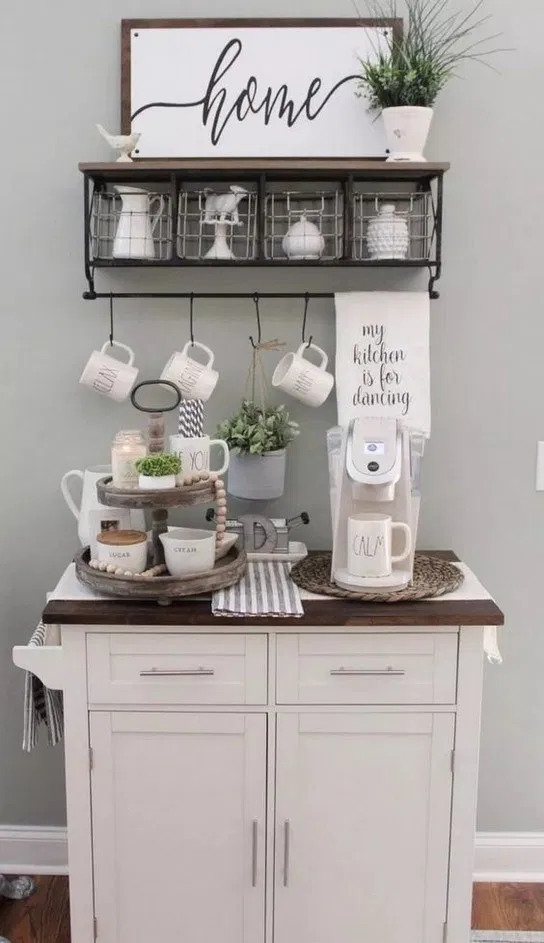 74+ outstanding diy coffee bar ideas for your cozy home #coffeebarideas