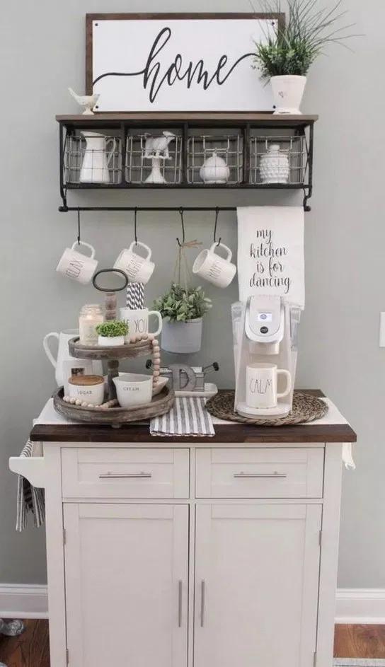 74+ outstanding diy coffee bar ideas for your cozy home #coffeebarideas