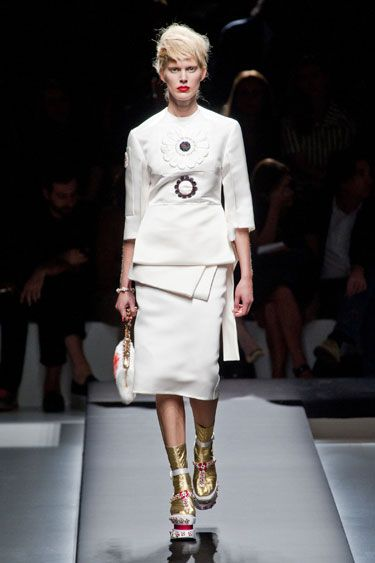 one of the three decent looks from Prada Spring 2013