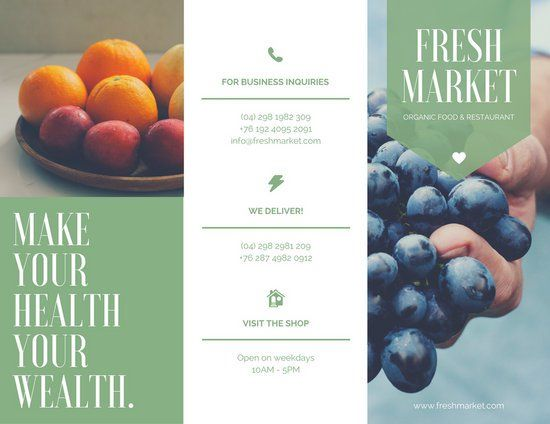 Modern Fruits Photo Organic Sales Brochure  Integrate