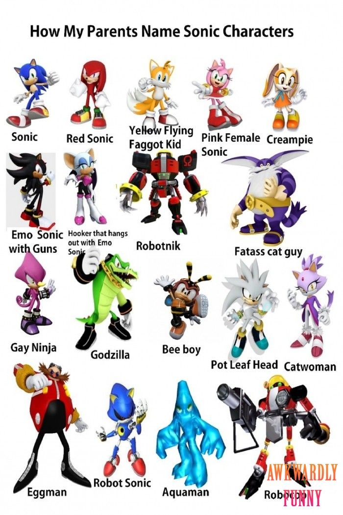 Hahaha Omg Look At This How My Parents Name Sonic Characters Sonic Funny Sonic Shadow Classic Sonic