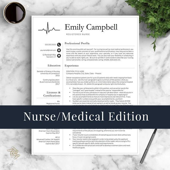 Stand out with this Nurse Resume Template for Word  Pages Whether - nursing resumes that stand out