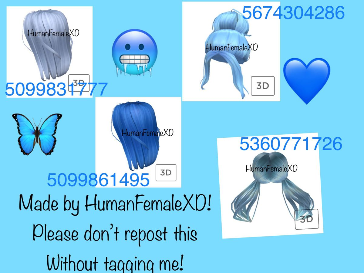 Blue Hair Roblox Codes In 2020 Roblox Codes Roblox Roblox Pictures