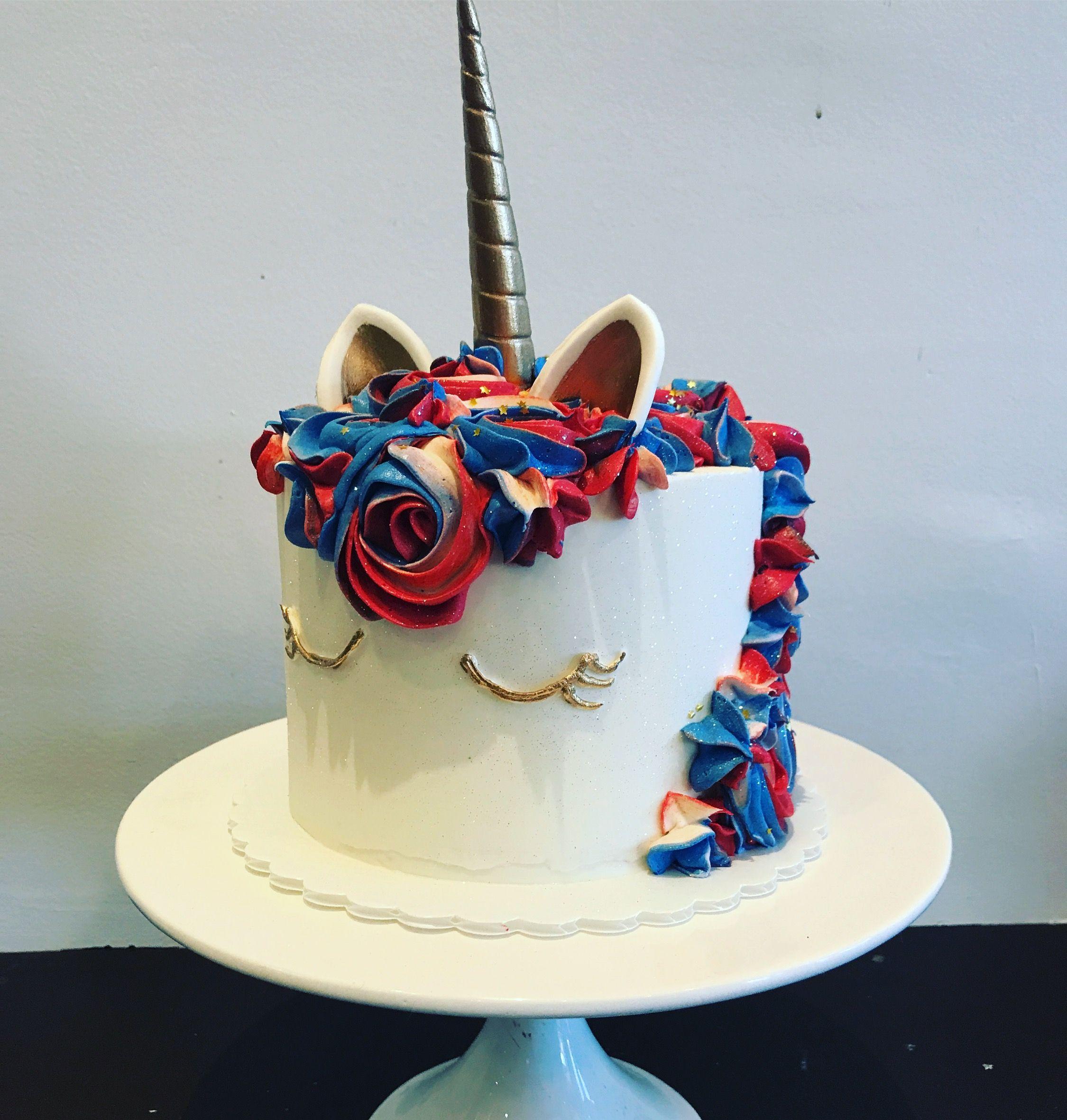 Patriotic Unicorn Cake Unicorn Birthday Cake Unicorn Cupcakes