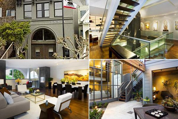 1906 san francisco firehouse converted into a home for Reclaimed wood flooring san francisco