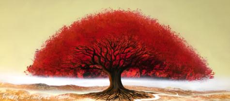 Img 2074 Red Tree Spray Paint Artist Spray Paint Art