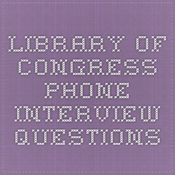 Library of Congress Phone Interview Questions Librarian Stuff - how would you weigh a plane without scales