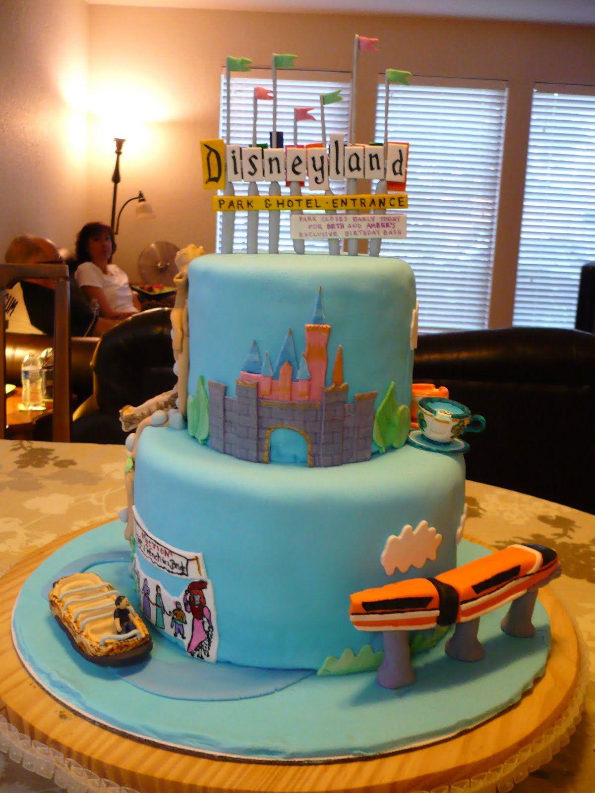 The Wright Report DISNEYLAND CAKE! Disney cakes
