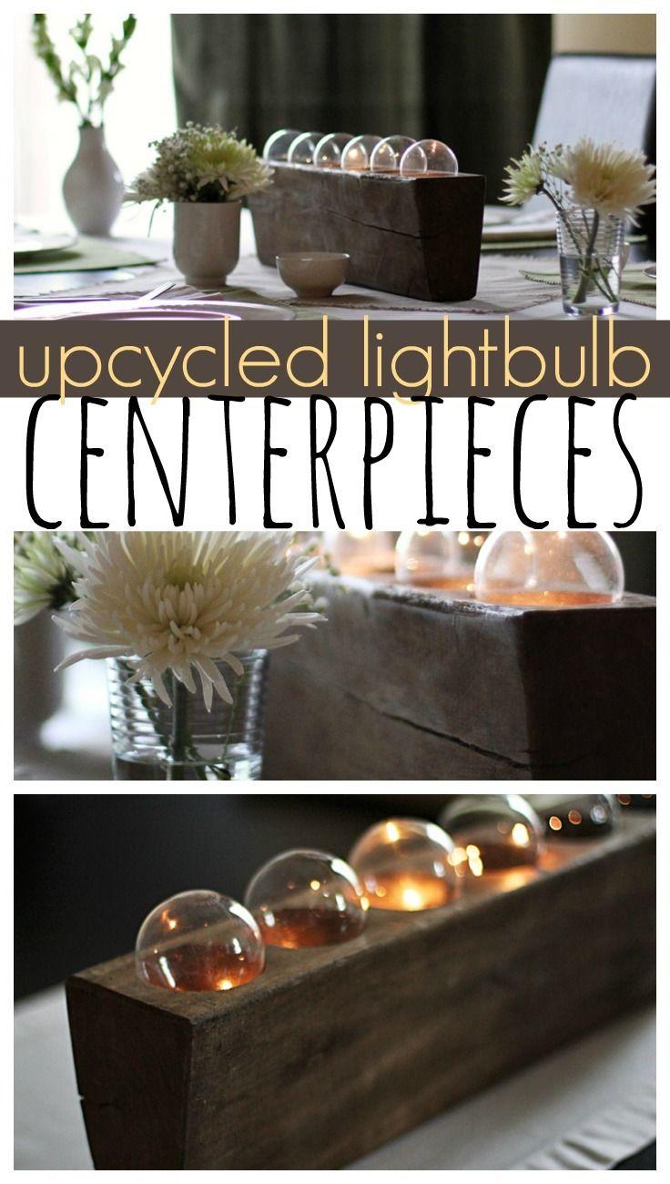 Upcycled Light Bulb Centerpiece
