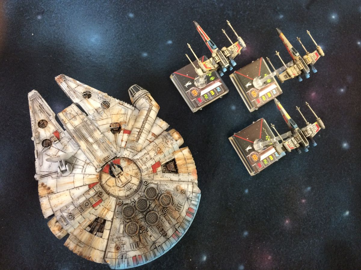 Repainting Star Wars X-wing Miniatures Pt 2 Imperial