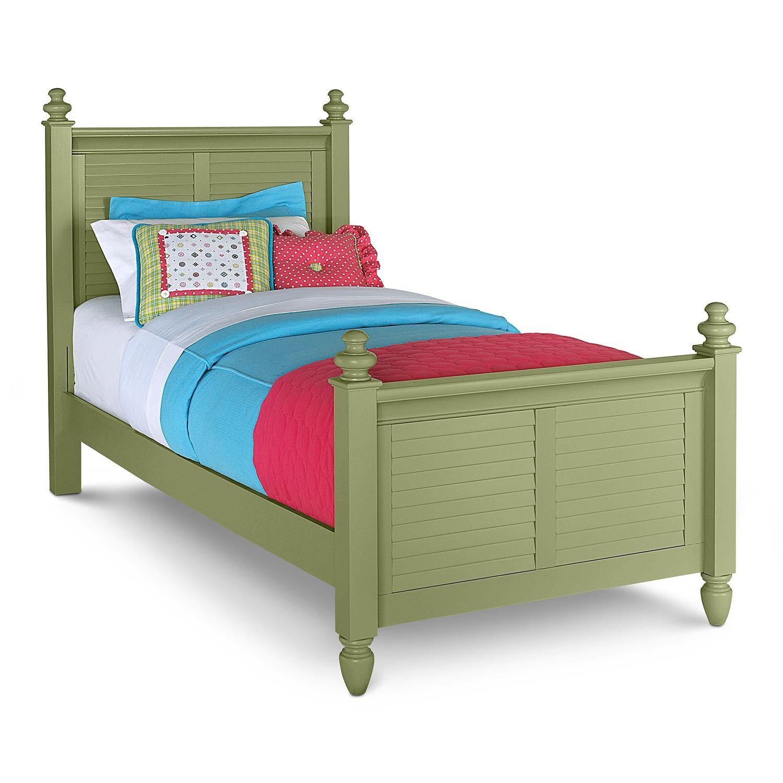 Beau American Signature Furniture   Seaside Green Kids Furniture Twin Bed