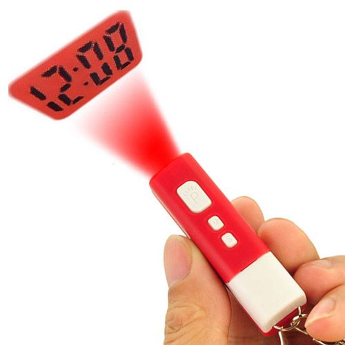 Mini LCD Projection Time Clock Digital Keychain Red - http://ucables.com/product/mini-lcd-projection-time-clock-digital-keychain-red-2/