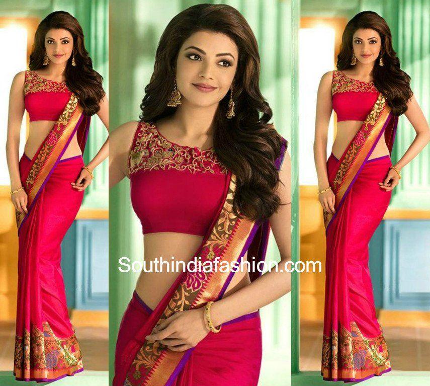 Kajal Aggarwal In A Traditional Saree Bollywood Girls Saree Saree Styles