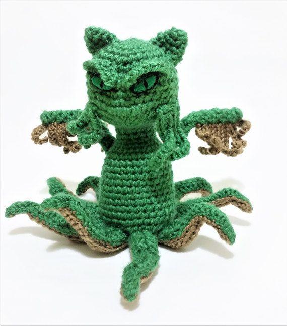 Cathulu / Cat cthulhu / Articulating doll / HP Lovecraft / Cat ...