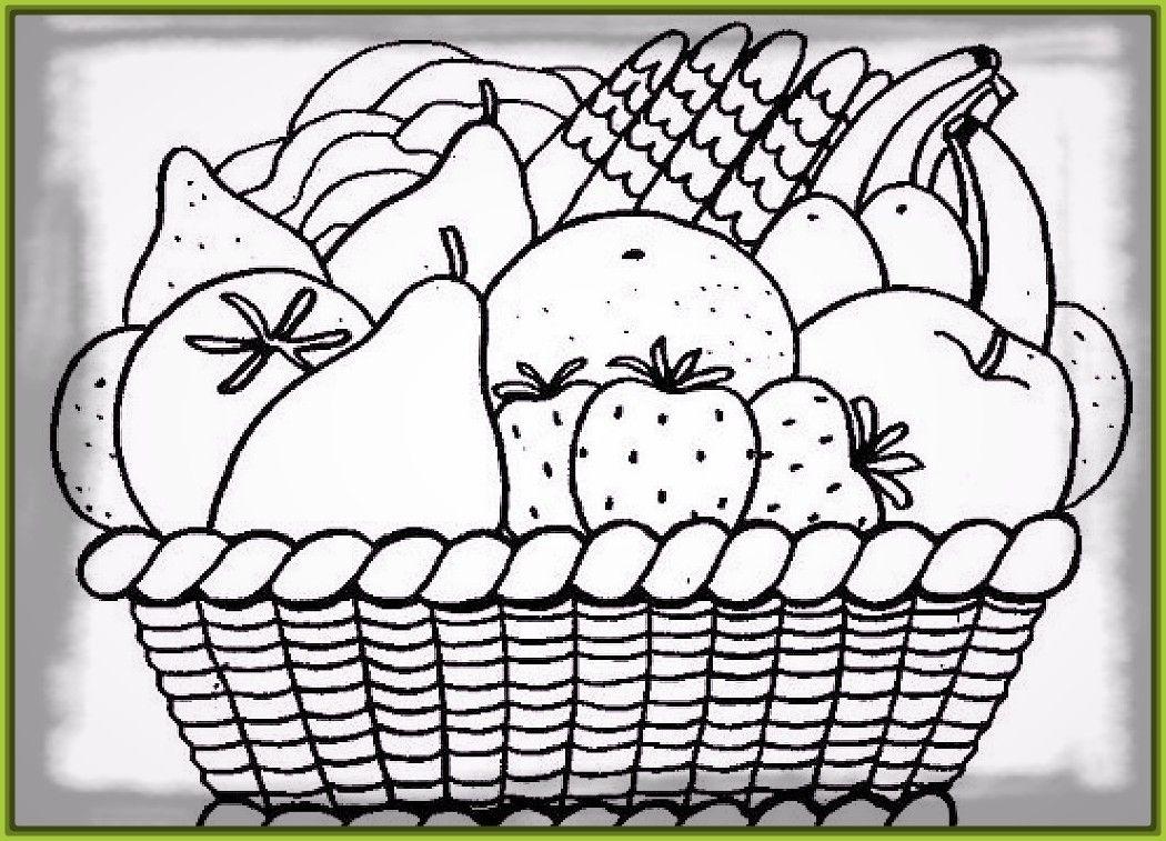 cestas-de-frutas-para-colorear-e-imprimir-1.jpg (1050×757) | Cuadro ...