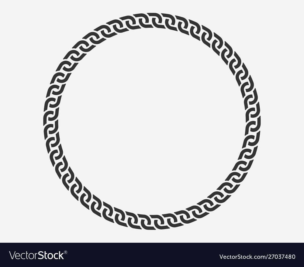 Texture Chain Round Frame Circle Border Chains Silhouette Black And White Isolated On Background Chainlet Design Element Circle Borders Circle Circle Frames