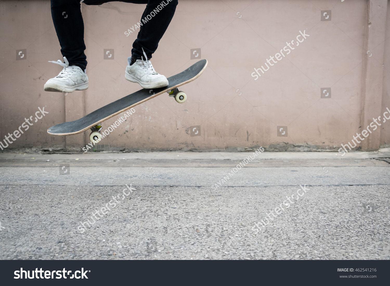A boy legs skateboarding. selective focus. #Ad , #AFF, #legs#boy#skateboarding#focus