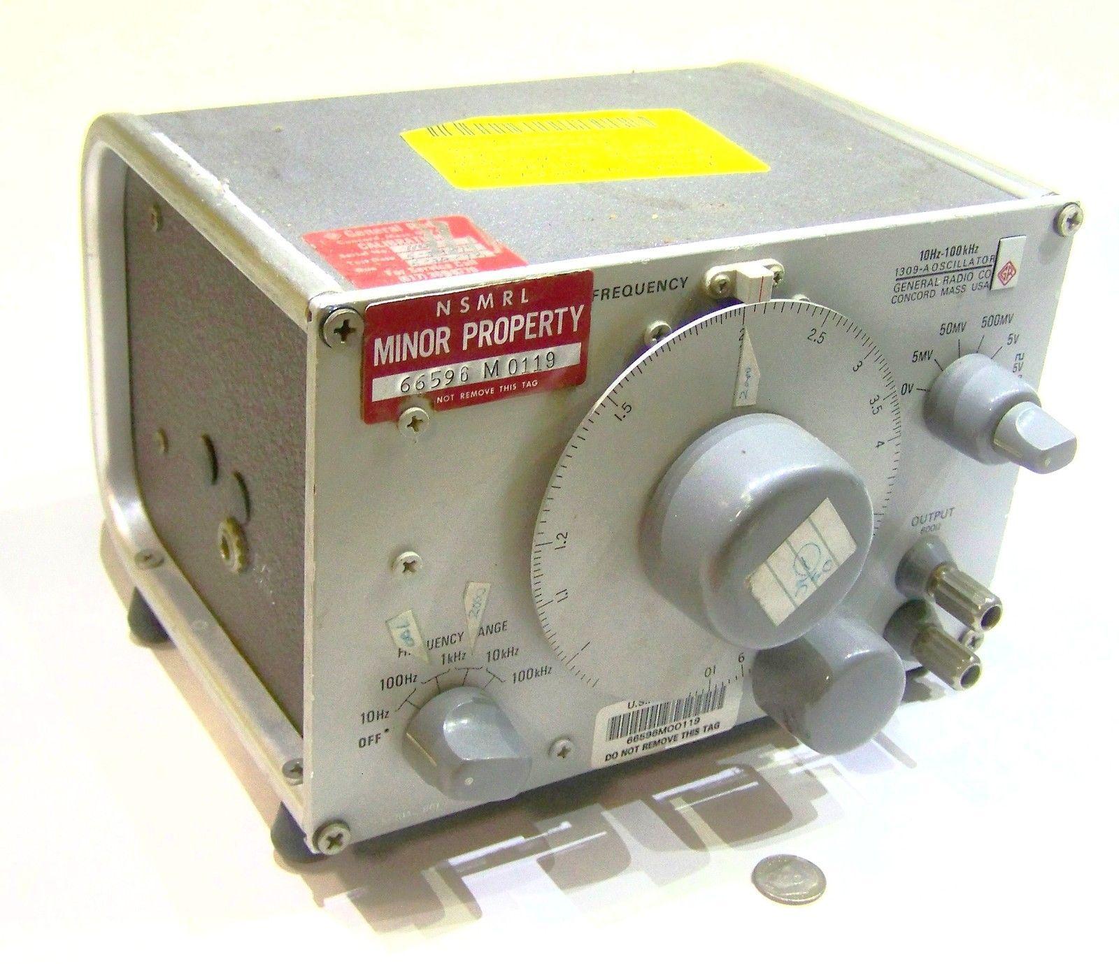 Genrad General Radio 1309 A Used Military Signal Generator Frequency Oscillator Ebay Radio Design Radio Vintage Electronics