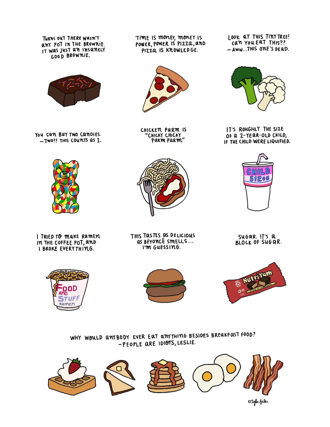 Some Foods of Parks and Recreation* by Tyler Feder