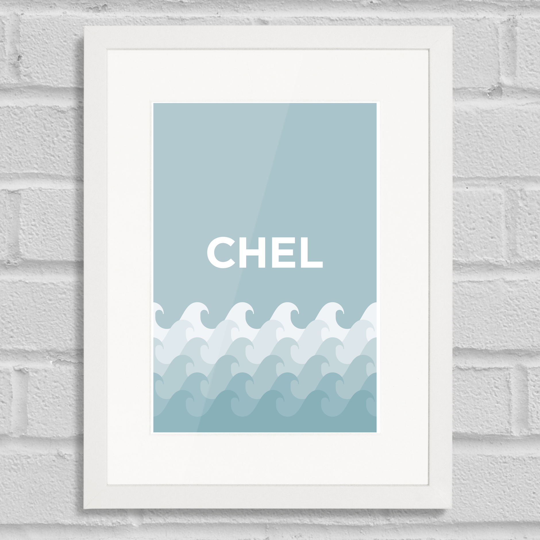 Pate Chelsea Art Poster Print Place Pun White Frame