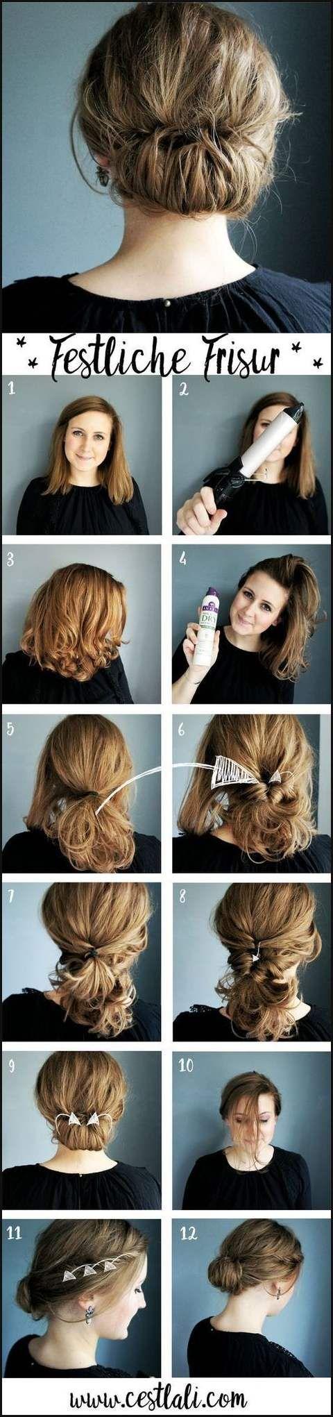 Pin Von T H Auf Haar Ideen Frisuren Festliche Frisuren Anleitung Festliche Frisuren