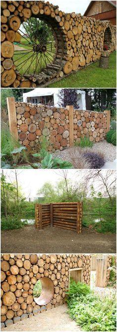 Tronc d\'arbre déco jardin: 15 idées DIY pour un jardin ...
