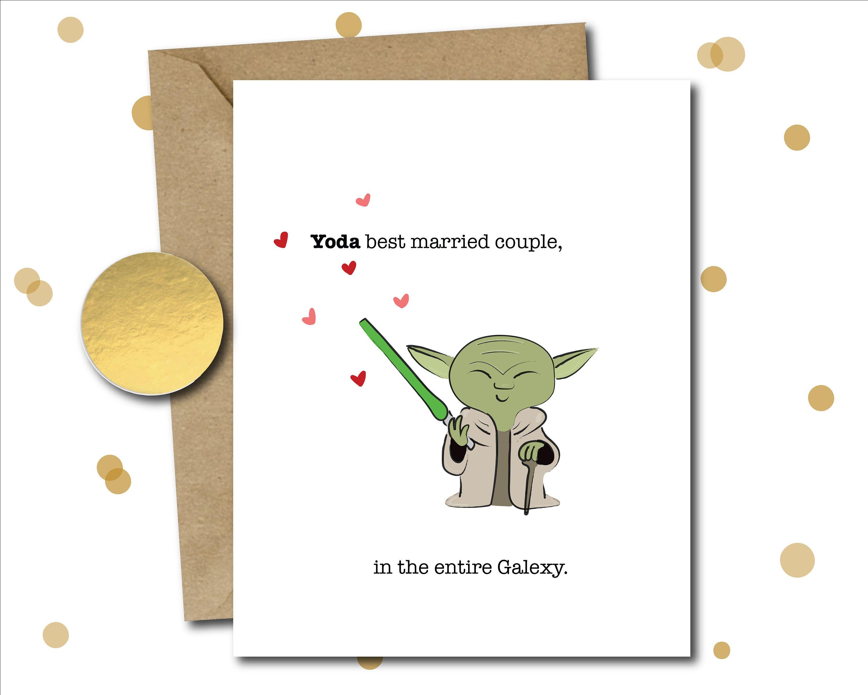 Star Wars Wedding Card Wedding Gift Funny Wedding Card
