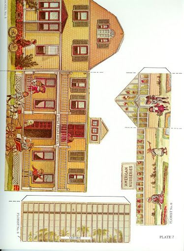 The Pretty Village by the McLoughlin Brothers - Dover Publications Inc., 1983: Plate 7 (of 24)
