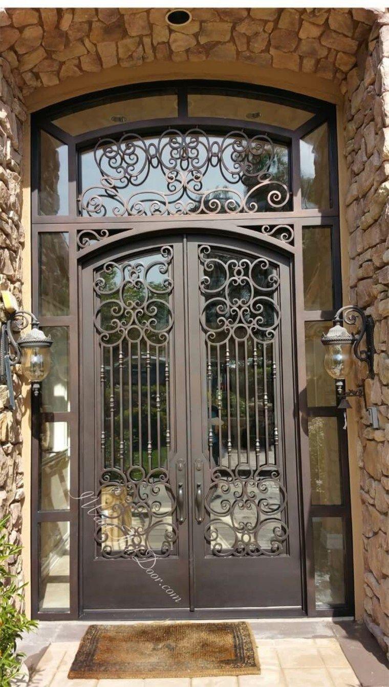Puerta De Hierro Moderna Disenos Modernos Con Hierro Forjado Nuevo Decoracion Diseno Ventanas Iluminacion De Fachada Disenos De Puertas Metalicas