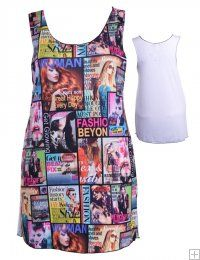 FASHION COLLAGE GRAPHIC PRINTED DRESS WITH SOLID WHITE BACK  WHOLESALE PLUS SIZE DRESSES  5296 PLUS GRAPHIC DRESS UNIT PRICE $9.5 1-1-1PACKAGE3PCS