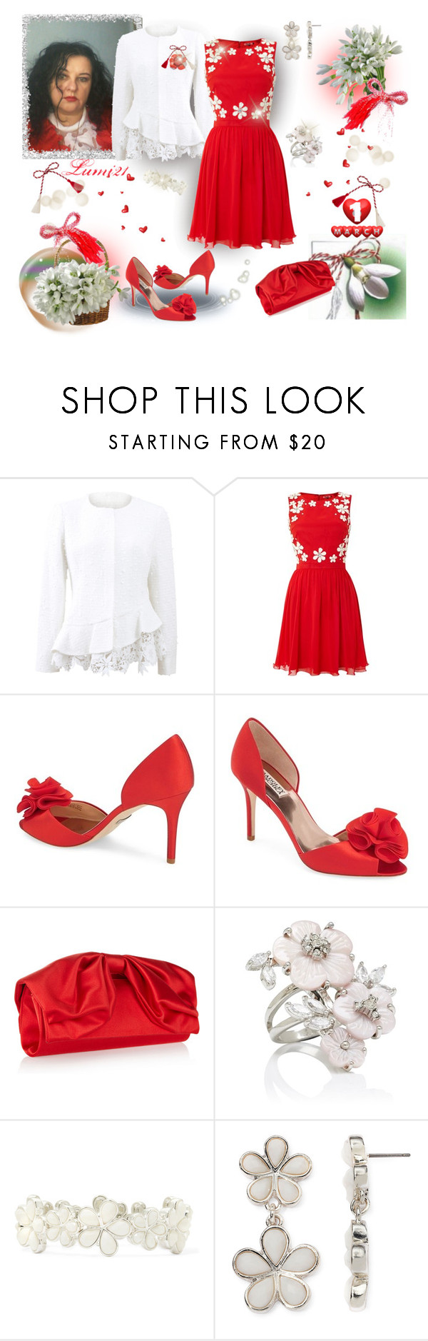"""MARTISOR! (HAVE A HAPPY SPRING!)"" by lumi-21 ❤ liked on Polyvore featuring Oscar de la Renta, Chi Chi, Badgley Mischka, Valentino, Forever New, Liz Claiborne, Cartier, modern, country and martisor"