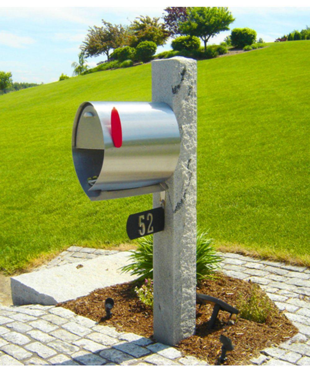 Spira Post Mount Mailbox Large Steel Mailbox Mounted Mailbox Stainless Steel Mailbox
