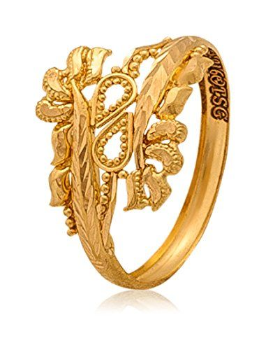 buy senco gold aura collection 22k yellow gold ring online