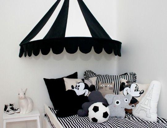 decoracin de dormitorio infantil en blanco y negro