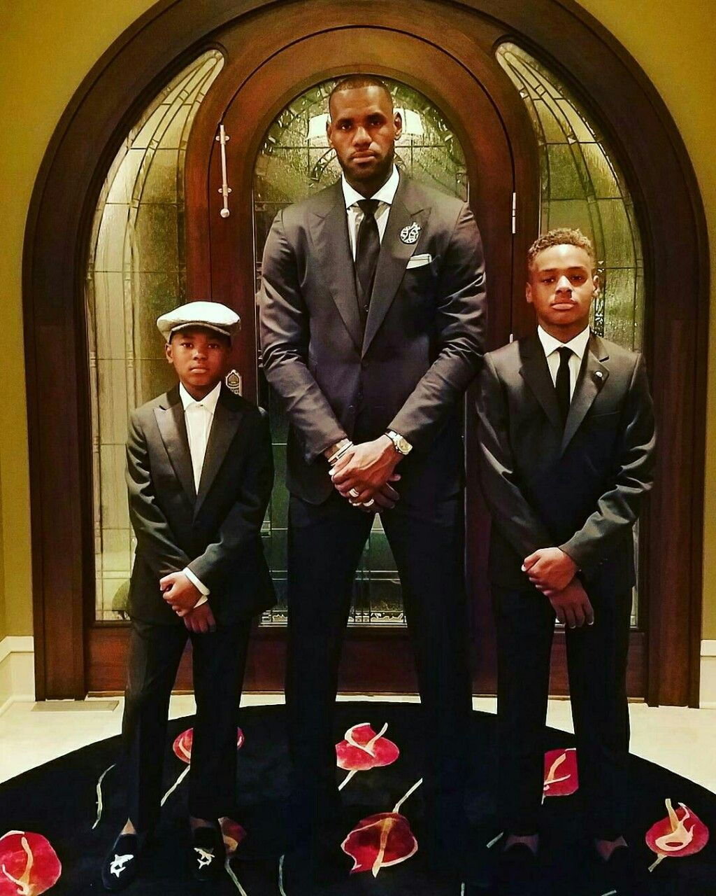 FYeah LBJ. @kingjames: Posted with my Young Kings!! #JamesGang…