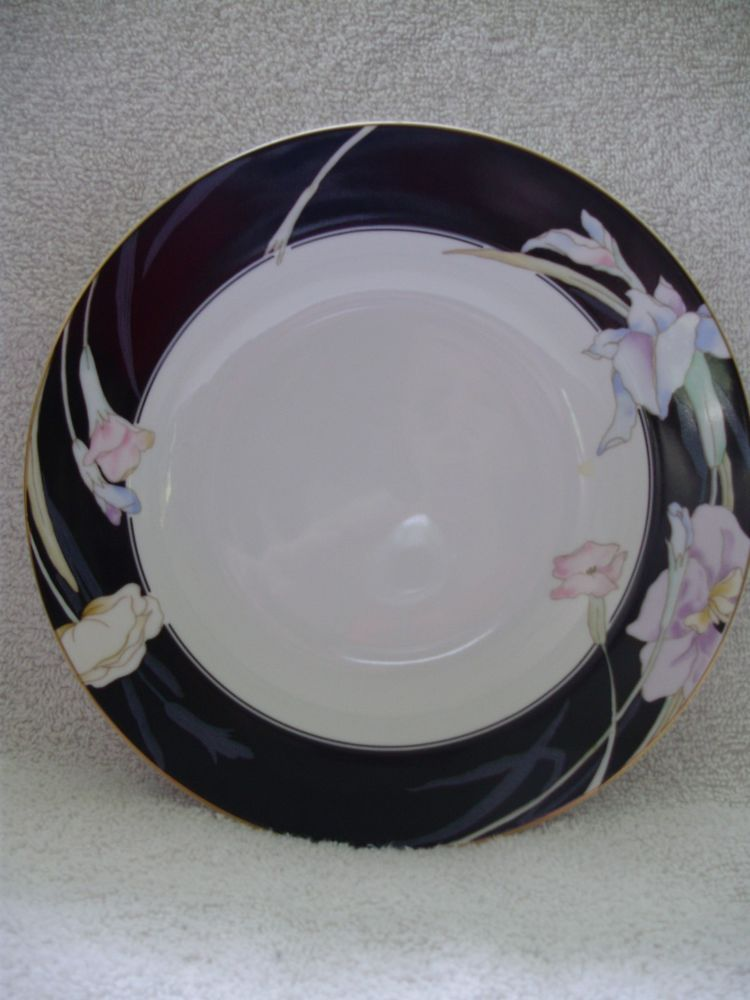 Mikasa CHARISMA BLACK Soup or Cereal Bowl Japan L9050 8 1/2 Inches ...