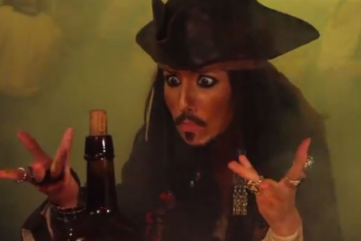 Parody extraordinaire, The Hillywood Show, spoofed Jack Sparrow into a rum-obsessed pirate.