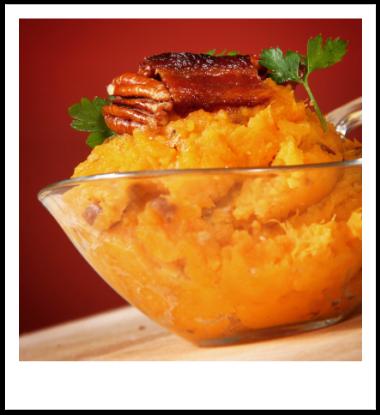 Bourbon Bacon Smashed Sweet Potatoes Smashed sweet