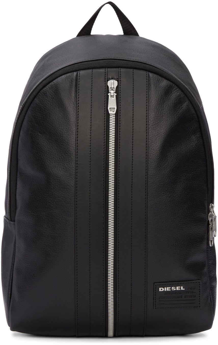 f87d429420 DIESEL Black L-Back Round Backpack. #diesel #bags #leather #lining  #backpacks #