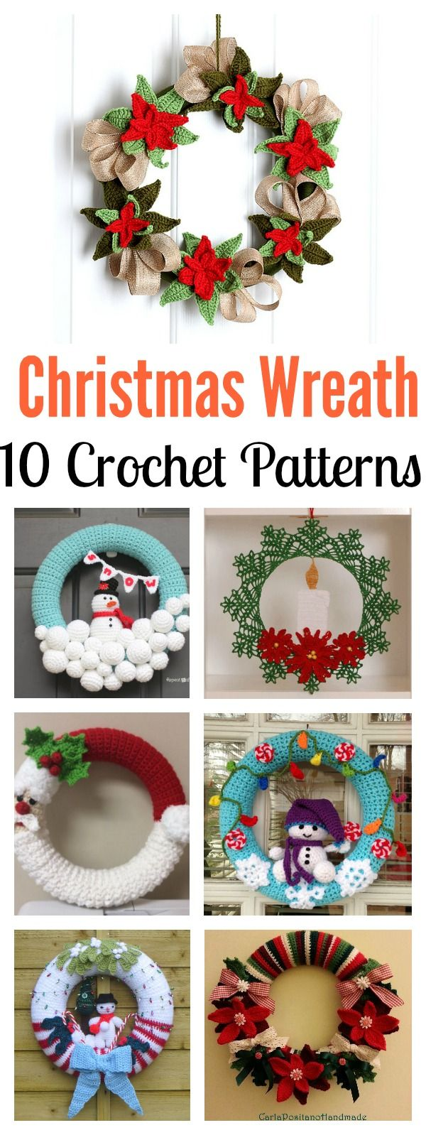 10+ Christmas Wreath Crochet Patterns | Wreaths, Crochet and Patterns