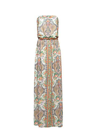 Maxi Jurk Met Paisley En Bloemenprint Dames Mango Nederland Vestidos De Flores Largo Estampado Floral Vestido Maxi