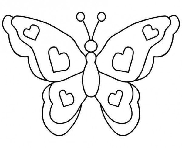 mariposas-grandes-para-colorear | mis niñas | Pinterest