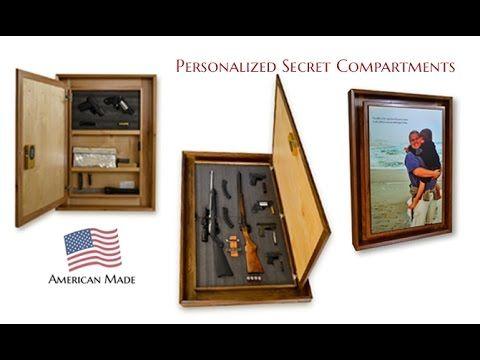 How to make a Picture Frame Secret Hidden Gun Safe, easy DIY ...