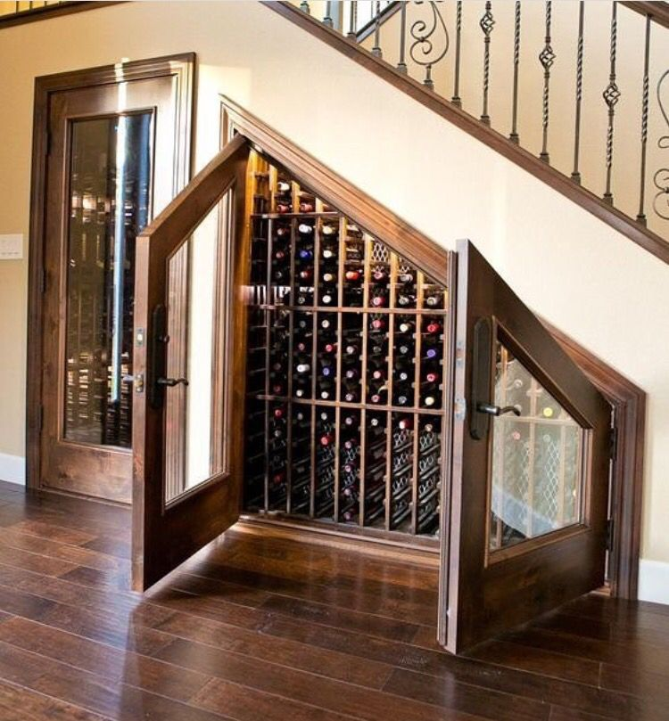 This Is A Neat Idea Home Wine Cellars Under Stairs Wine Cellar