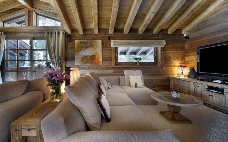 Country house style dise o con madera en interiores - Decoracion natural interiores ...